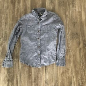 The North Face Denim Button Down Shirt Small